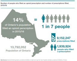 Number of people who filled an opioid prescription infographic